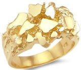 solid gold mens rings